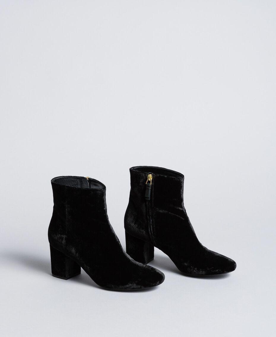 Bottines en velours Noir Femme CA8THJ-02