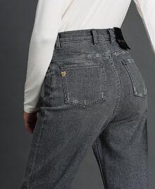 Jean boyfriend avec petits pois pailletés Denim Noir Femme 192MT2460-04