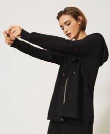 Maxi sweatshirt with embroidery Black Woman 202LI2HMM-02