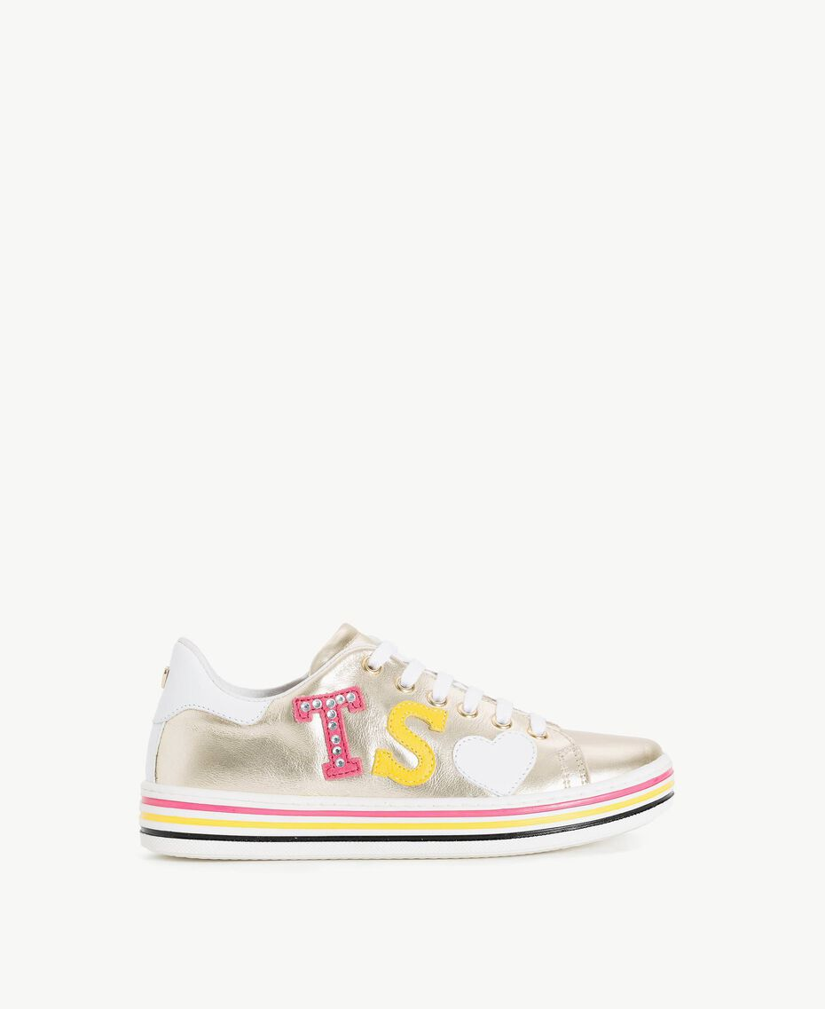 Baskets logo Or Clair Free Enfant HS88B1-01