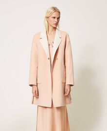 """Double wool cloth reversible coat Two-tone """"Nude"""" Pink /""""Blush"""" Pink Woman 202MP211A-04"""