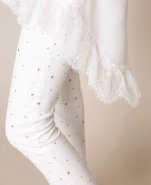 Длинная футболка с кружевом шантильи Лилия женщина 201MP2358-04