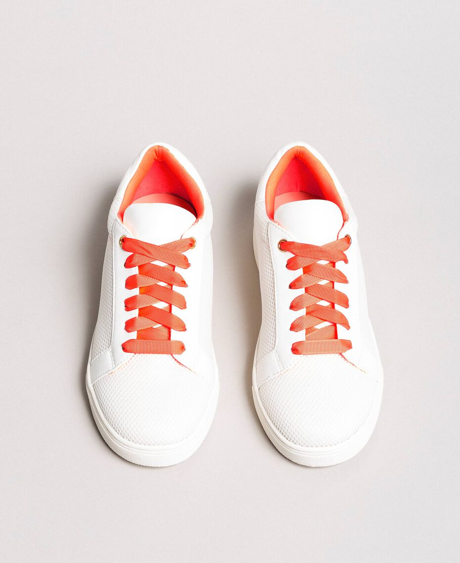 Sneakers in tessuto effetto rete Bianco Donna 191LL49EE-01