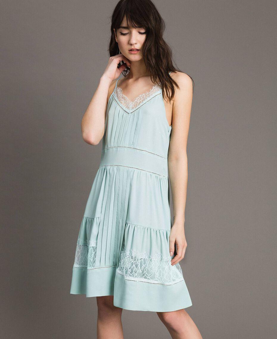 Платье из кружева и смесового шелка Аквамарин женщина 191TP2741-01