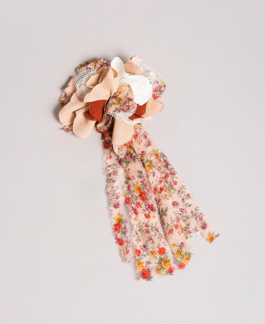 Bedruckte Blumen-Brosche Motiv Miniblumen Kind 191GJ4990-01