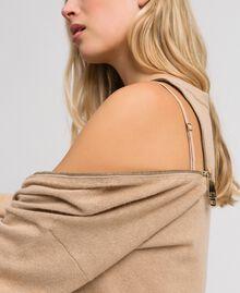 Cashmere blend maxi jumper Camel Woman 192TT3090-05