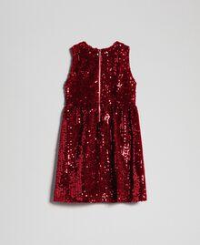 Abito in velluto con paillettes Rosso Ruby Wine Bambina 192GB2090-0S