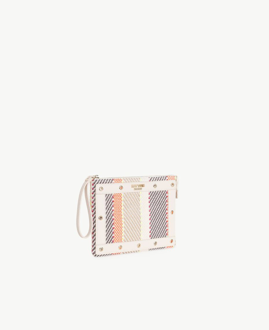 TWINSET Pochette multicolore Multicolore Crème / Café Crème / Orange Femme RS8TFE-02