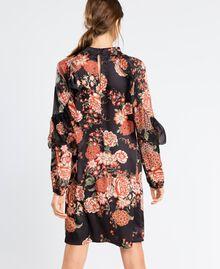 Robe en twill avec imprimé floral Imprimé Noir Fleur Femme LA8KSS-03