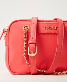 Technical satin shoulder bag Neon Pink Woman 211TD8100-02