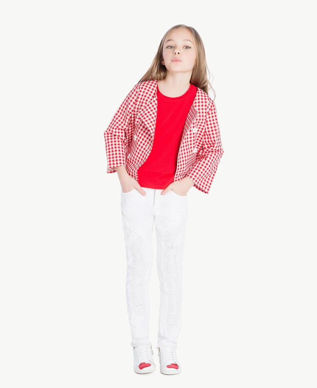 Jersey t-shirt Pomegranate Red Child GS82BA-05