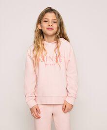 Толстовка с капюшоном и логотипом Принт Twinset Milano / Розовый Светлый Pебенок 201GJ2373-05