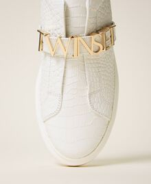 "Trainers with logo ""Snow"" White Crocodile Print Woman 202TCP034-01"