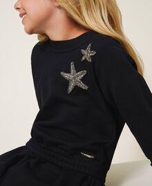 Robe en molleton avec étoile Noir Enfant 202GJ261C-04