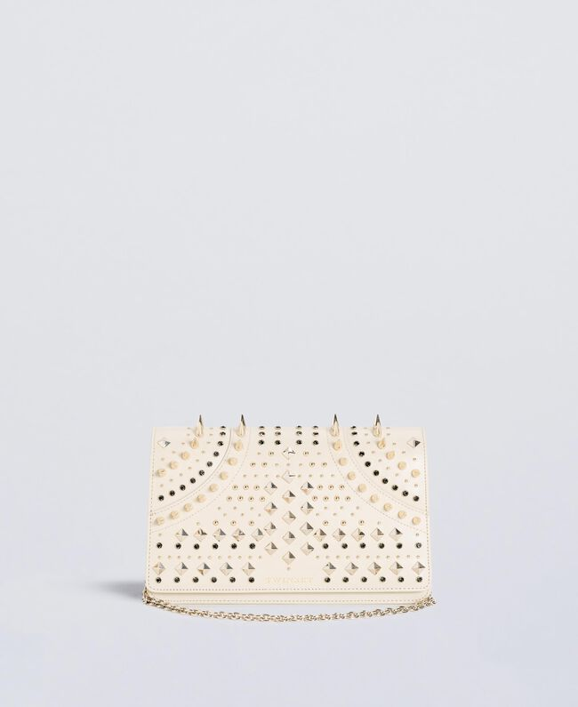 Studded clutch bag Ivory Woman OS8TLB-01