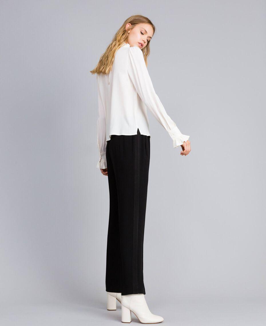Envers satin palazzo trousers Black Woman TA824A-02