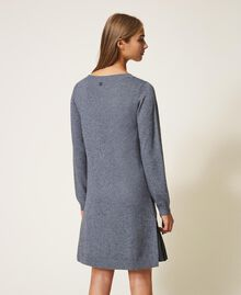Knit dress with slip Medium Gray Mélange Woman 202ST3221-03