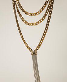 Collier en chaîne avec papillon et perles Or «Laiton Vieilli Cuivré» Femme 202TA4305-01