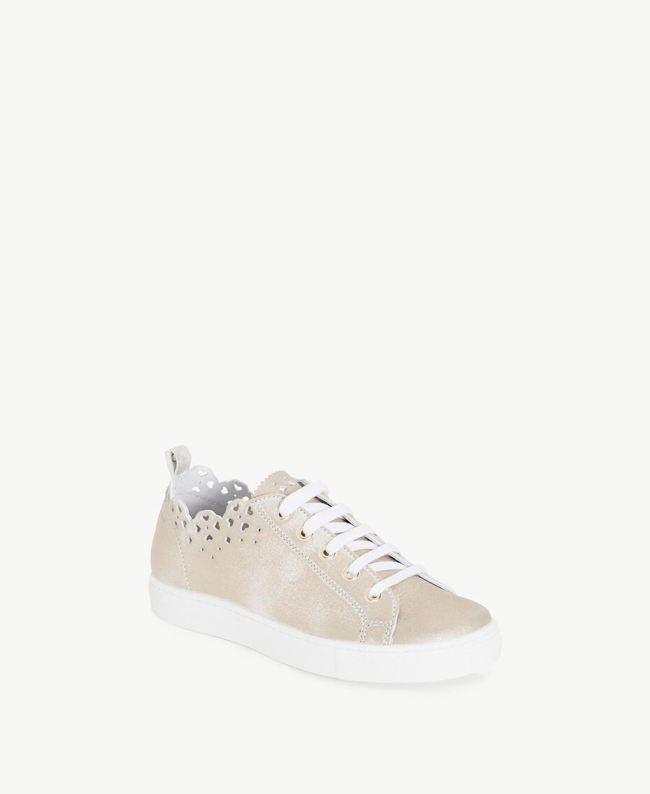 Scalloped sneakers Platinum Child HS88CQ-02