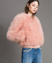 Feather bomber Pink Pearl Woman 191TP2080-03