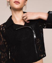 Байкерская куртка из кружева макраме Черный женщина 201MP2231-04