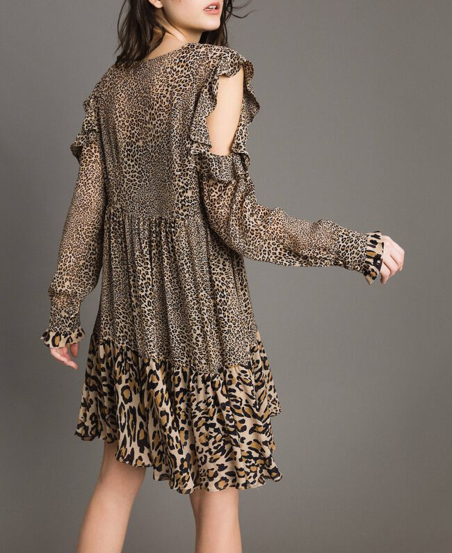 Abito in georgette animalier Stampa Maculata Mix Donna 191TP2722-03