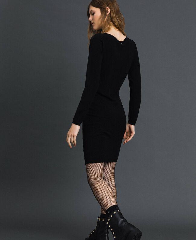 Robe avec fermeture éclair asymétrique Noir Femme 192TP3260-03