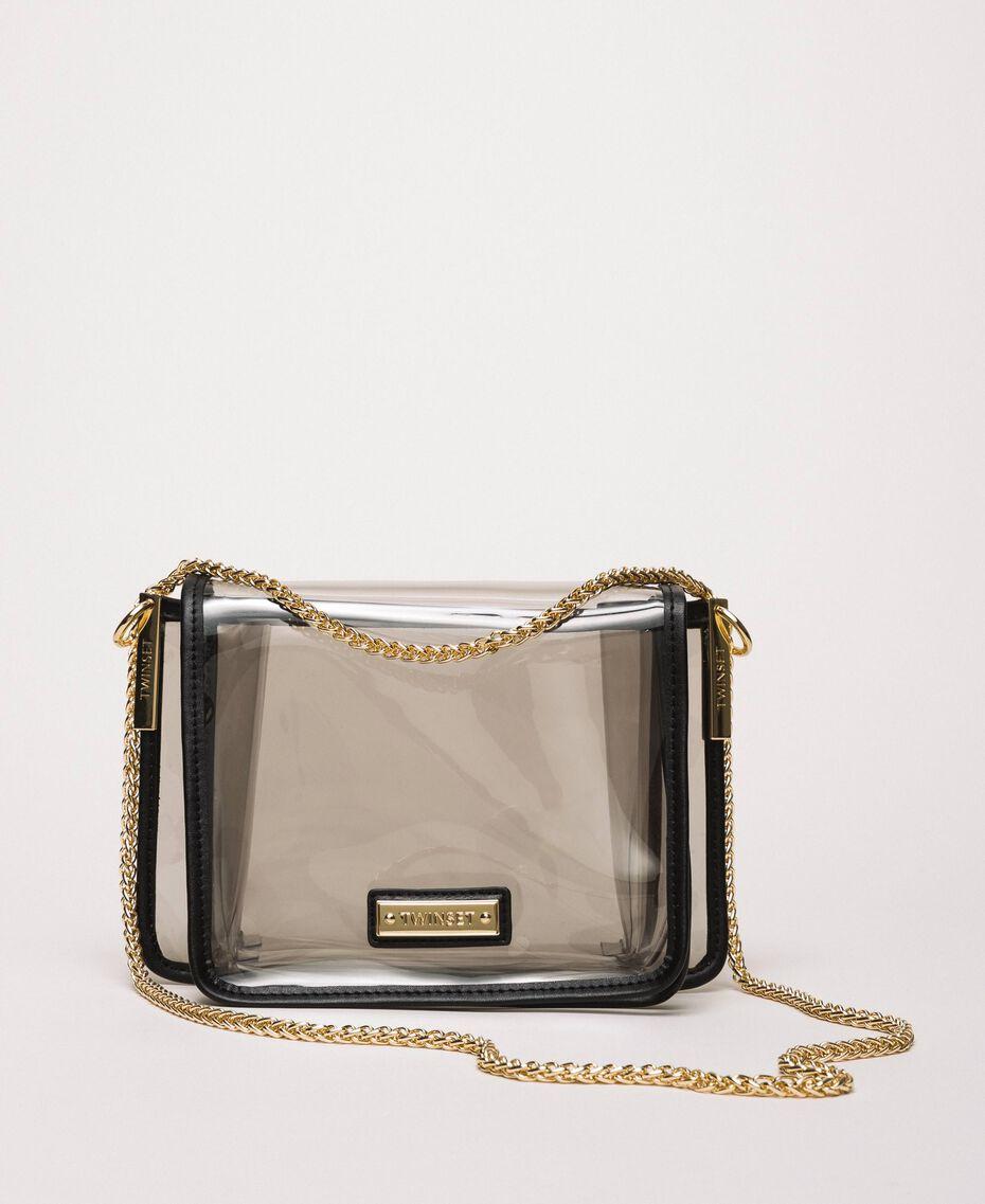 Bea Bag en PVC avec chaîne à bandoulière Gris Femme 201TO8200-01