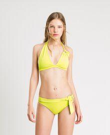 """Brazilian-Bikinihose mit hoher Taille und Zierringen """"Lemon Juice"""" Gelb Frau 191LBM2XX-0S"""