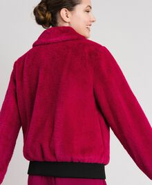 Faux fur bomber jacket Red Amaranth Woman 192MP2042-03