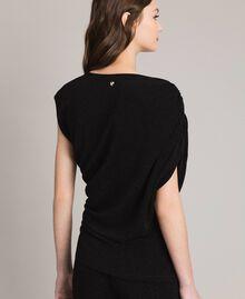 Top en lurex avec drapés et cordon coulissant Noir Femme 191MP2024-03