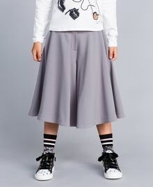 Gonna pantalone in crêpe Grey Stone Bambina GA82DC-02