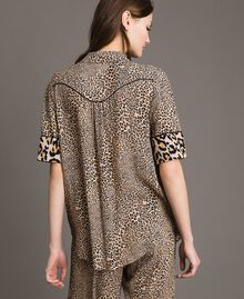 Animal print crêpe shirt Mixed Animal Print Woman 191TP2701-03
