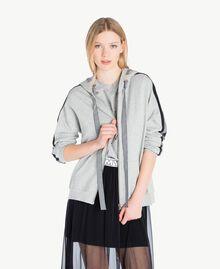 Gingham sweatshirt Melange Grey Woman JS82H3-01