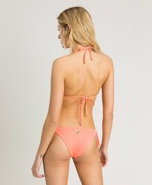 "Triangle bikini top with stripes and sequins Pink / ""Tangerine Cream"" Pink Multicolour Striping Woman 191LBMA33-03"