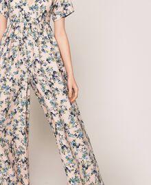 Combinaison en crêpe de Chine floral Imprimé Floral Rose «Quartz» Femme 201MP2372-05