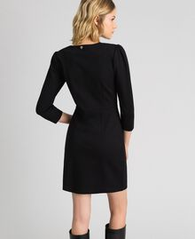 Sheath dress with covered buttons Black Woman 192MP2179-03