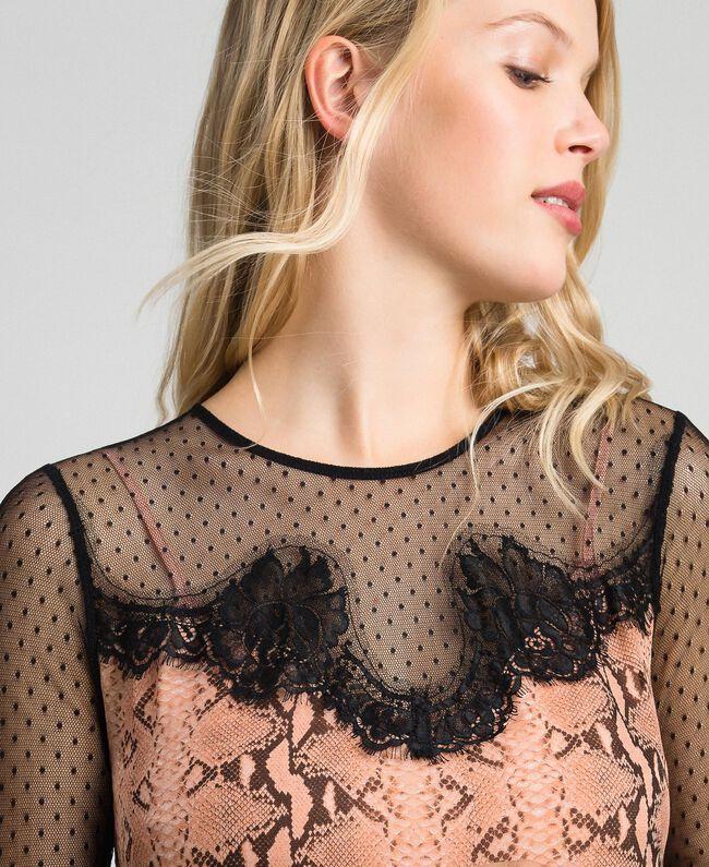 Robe en crêpe georgette avec motif animalier Imprimé Python Rose Canyon Femme 192TT2273-04