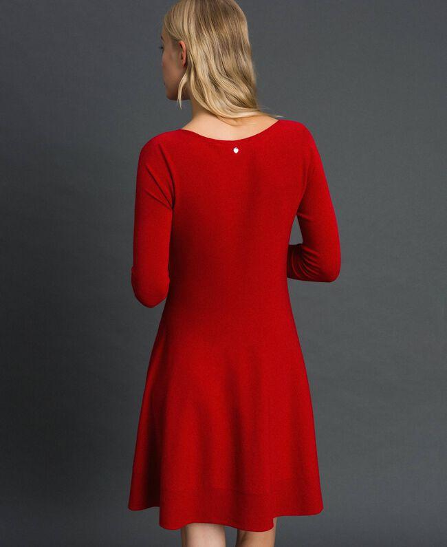 Abito a corolla in maglia Rosso Veneziano Donna 192TT3281-03