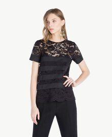 T-shirt dentelle Noir Femme TS828Q-01