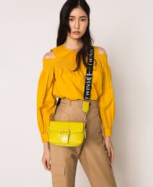 Small Rebel bag with logo shoulder strap Lime Yellow Woman 201TO823U-0S