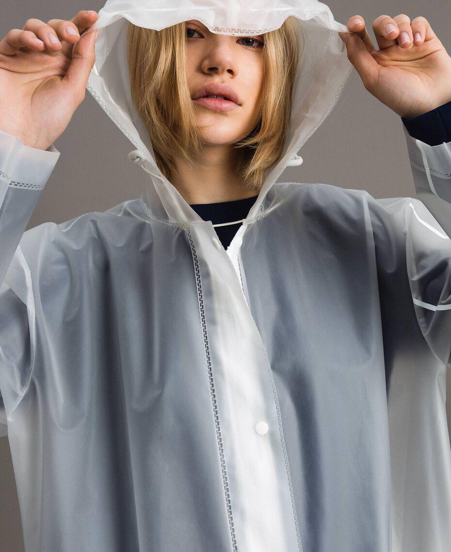 Imperméable avec logo Blanc Soie Opaque Femme 191TP2030-05