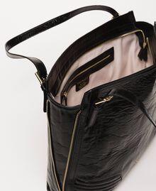 Rebel Hobo-Bag aus Glanzleder Schwarz Frau 201TO823V-04