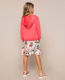 """Felpa con paillettes Rosso """"Calypso Coral"""" Bambina 201GJ2300-03"""