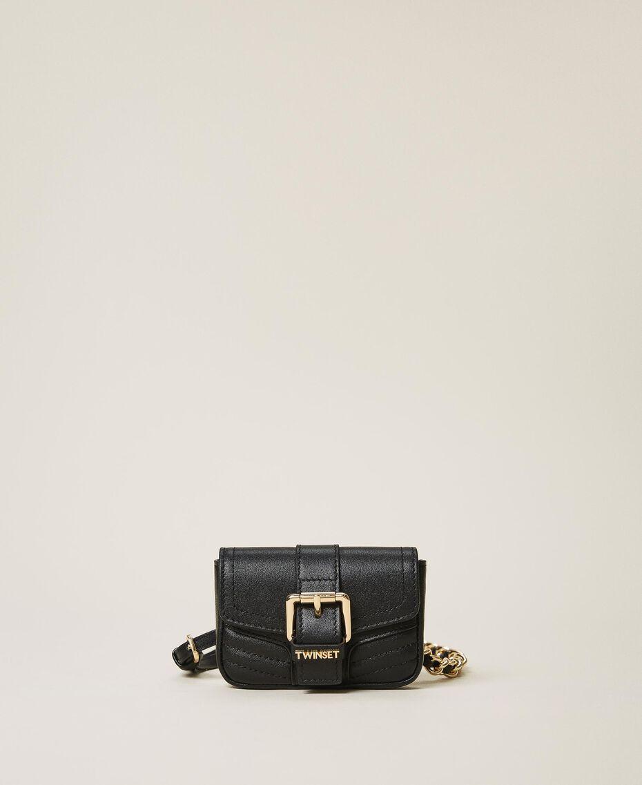 Belt with chain and Mini Rebel purse Black Woman 202TA434B-02