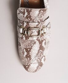 Leather loafers Ice Python Print Woman 191TCP082-05