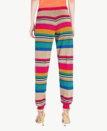 Hose mit Lurex Multicolor-Lurexstreifen Frau TS833R-03