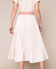 Юбка-миди из блестящей искусственной кожи Розовый Бутон женщина 201TP220A-04