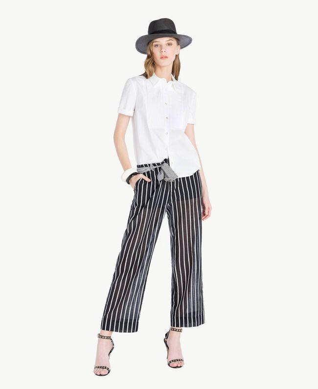 Cotton shirt White Woman TS8211-05