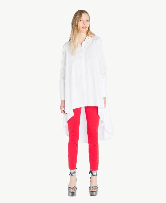 Maxi asymmetric shirt White Woman JS82DL-01